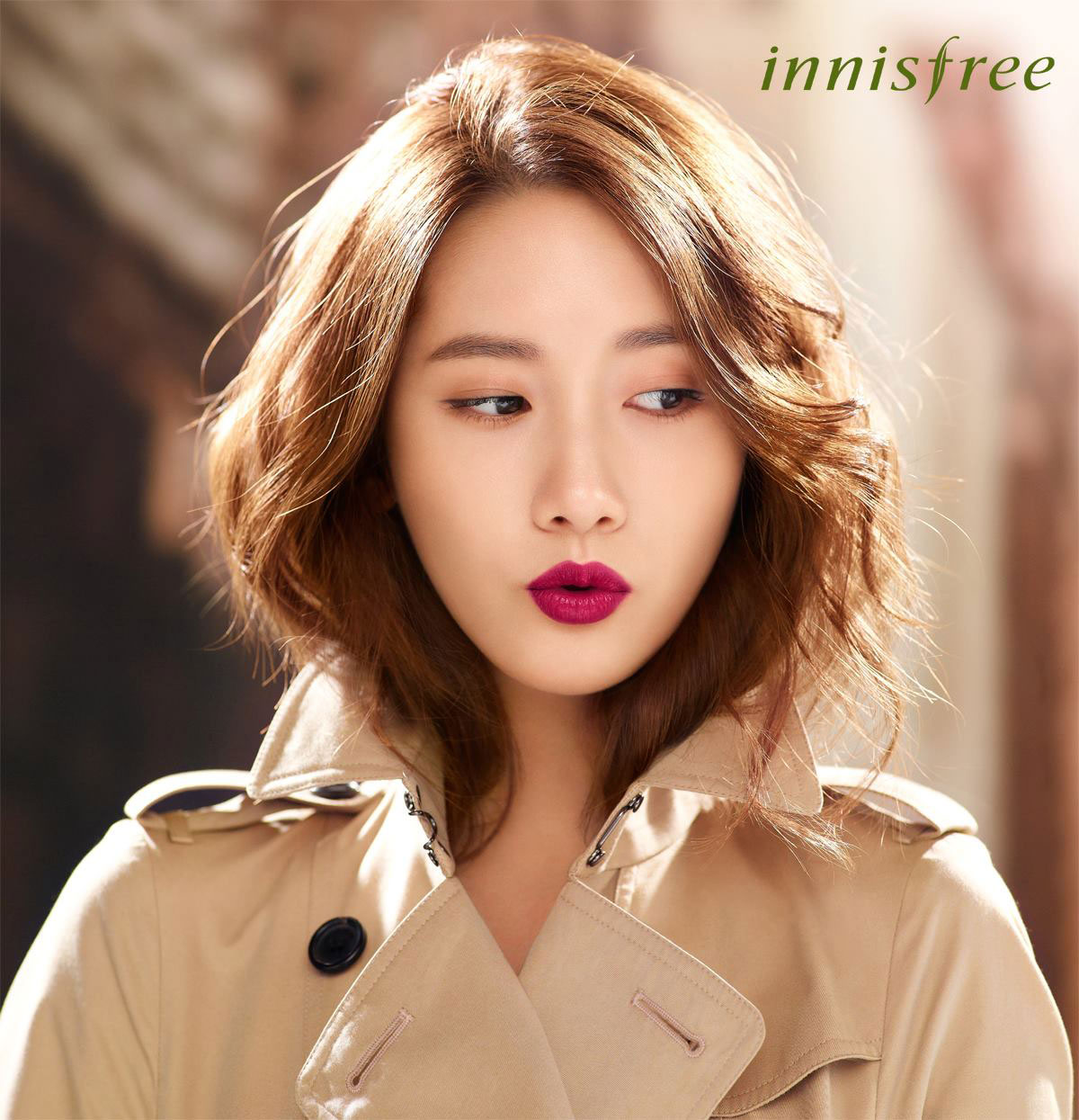 SNSD Yoona Innisfree lipstick HD photo