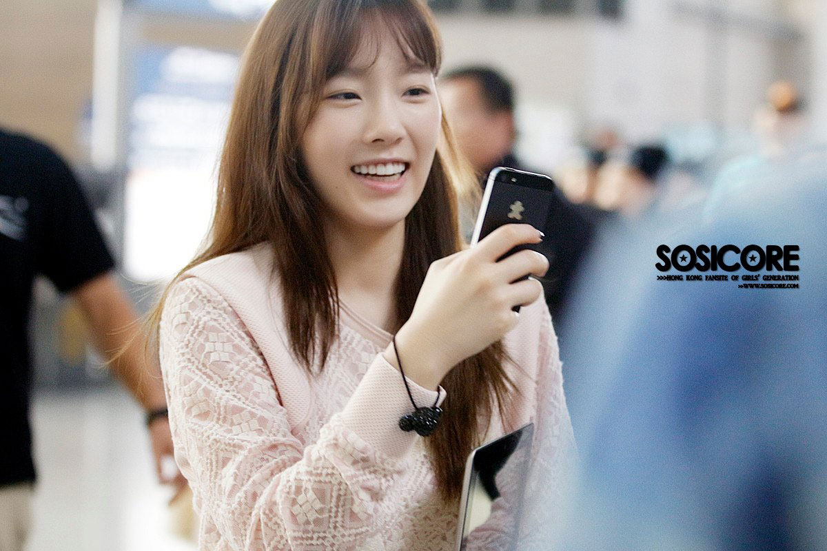 SNSD Taeyeon Incheon Airport to Singapore