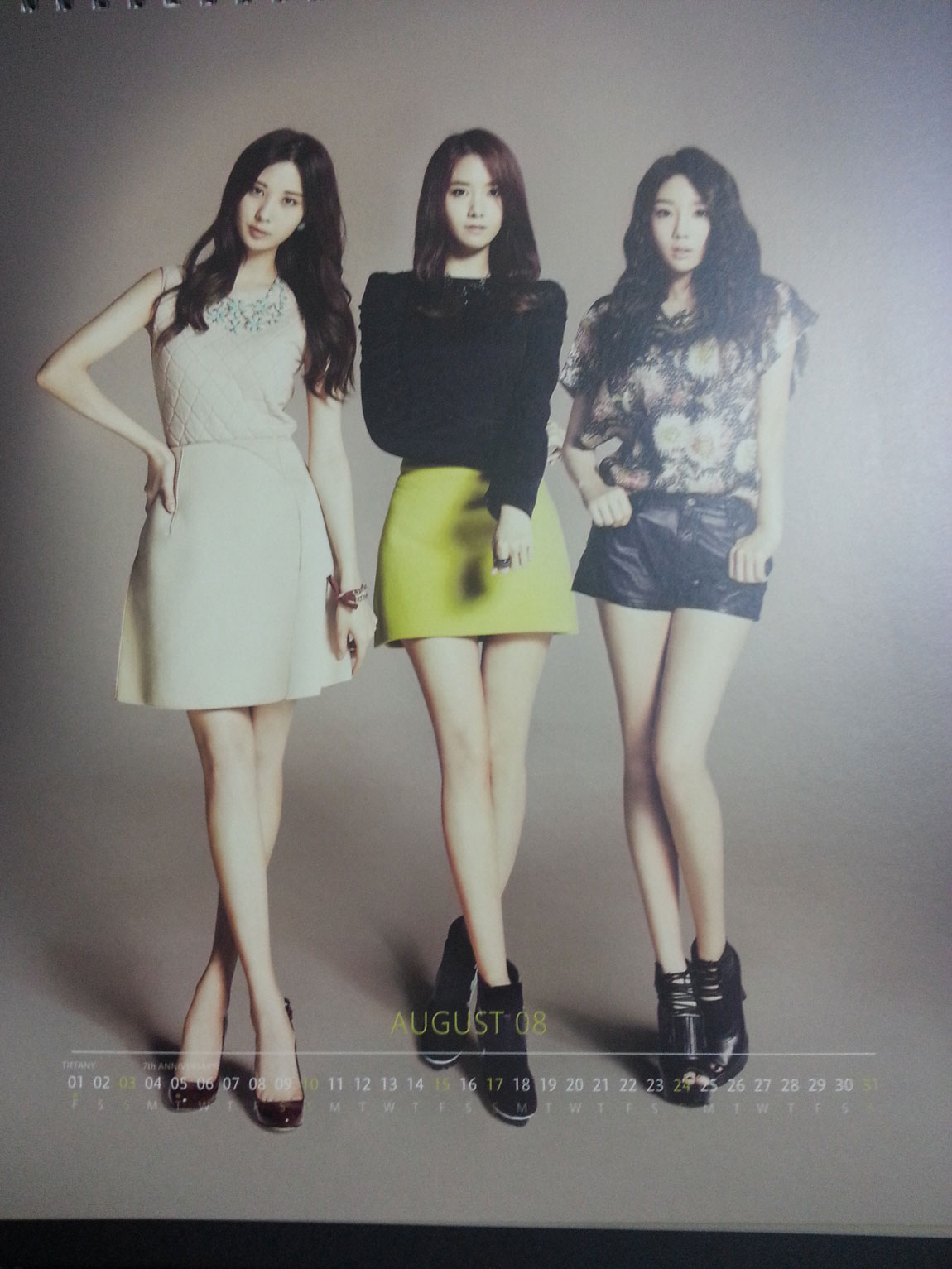 Girls Generation August 2014 calendar