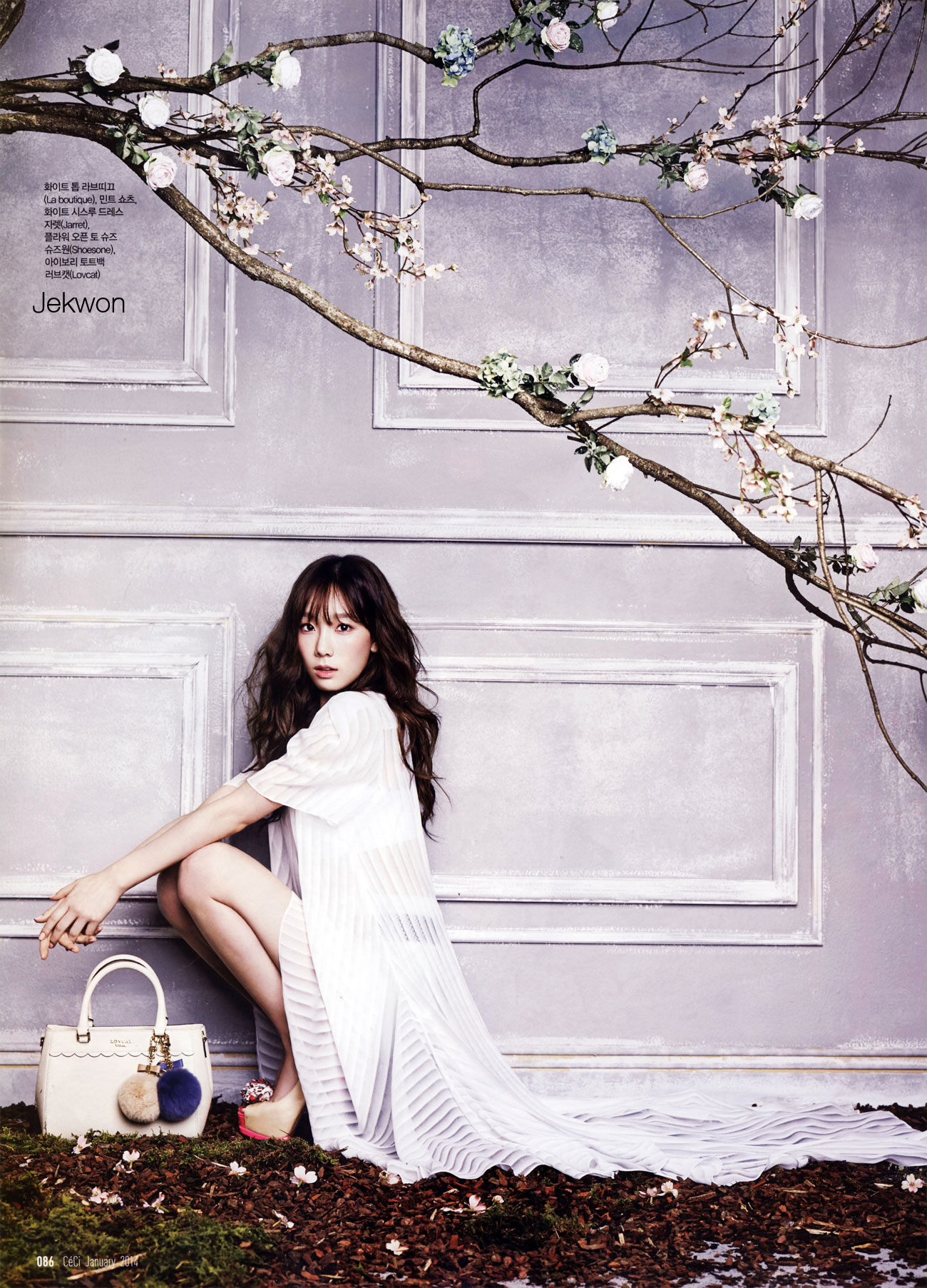SNSD Taeyeon Ceci Magazine January 2014