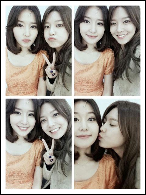 SNSD Sooyoung sister Soojin selca